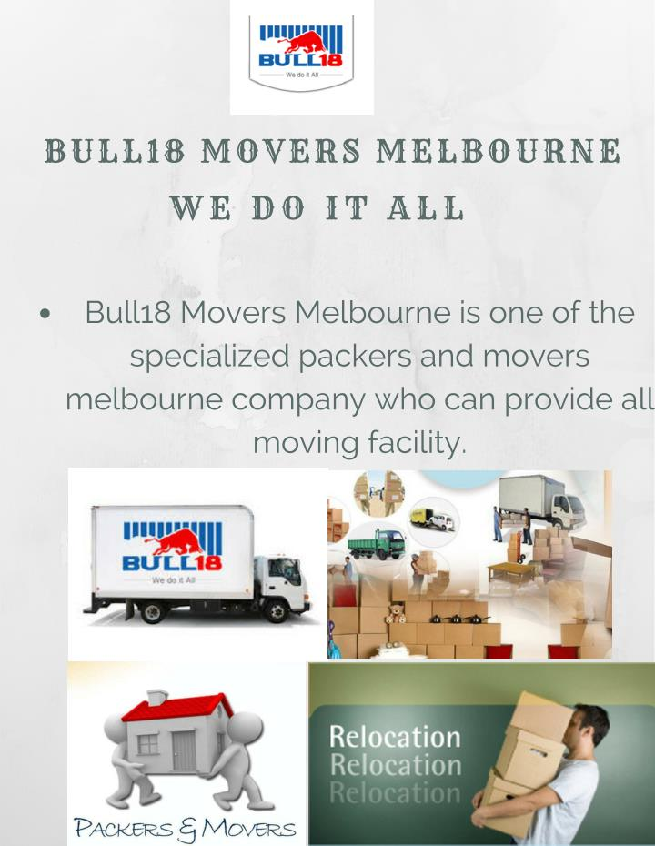 BULL18 MOVERS MELBOURNE