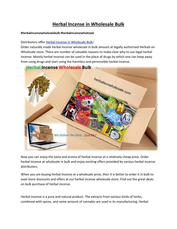 PPT - Wholesale & Bulk Herbal Incense for Sale PowerPoint