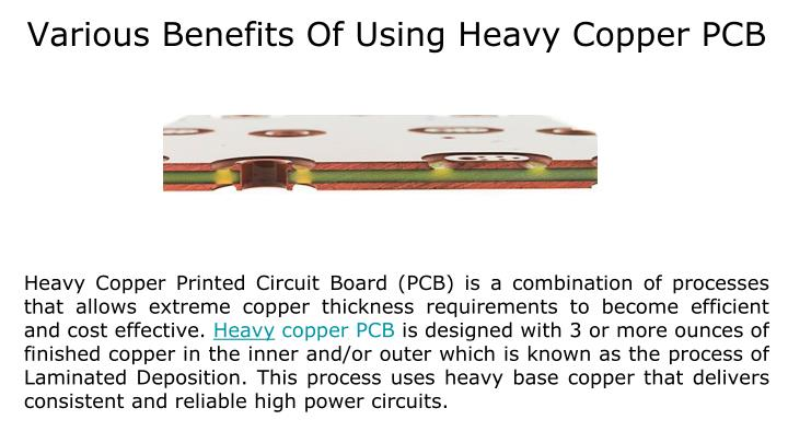 various benefits of using heavy copper pcb n.