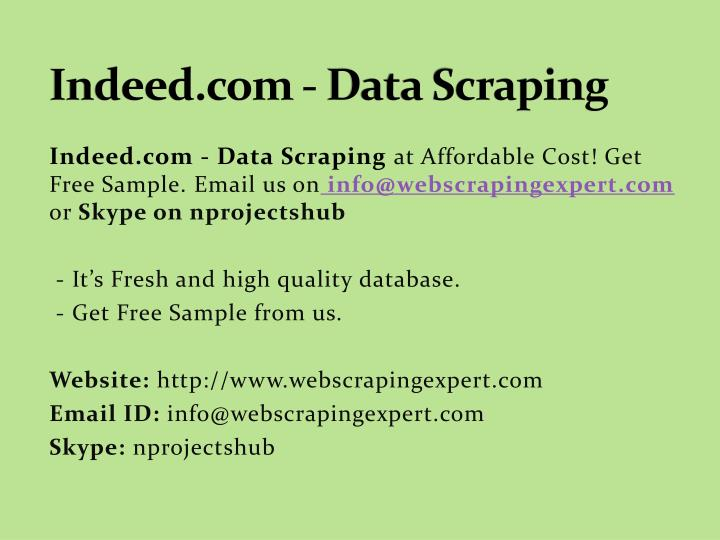 indeed com data scraping n.
