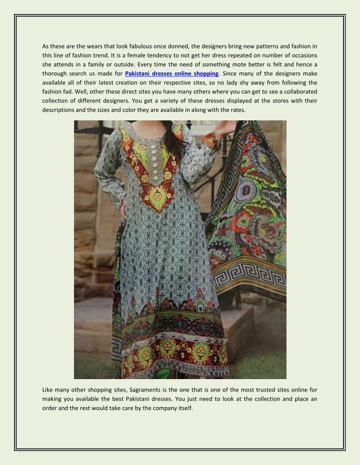 Ppt Grab A Pakistani Designer Salwar Kameez By Browsing