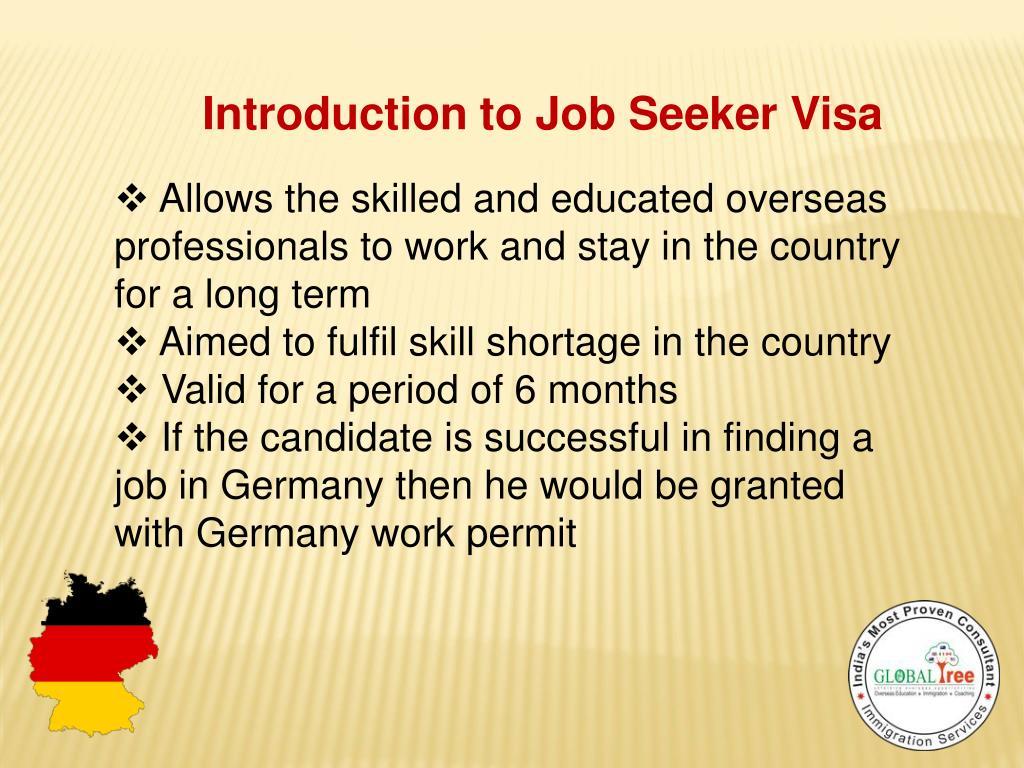 PPT - Germany Job Seeker Visa PowerPoint Presentation - ID