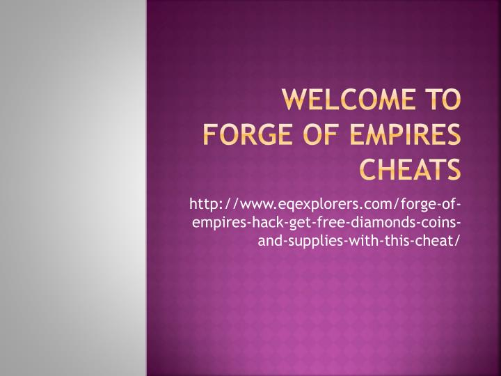 welcome to forge of empires cheats n.