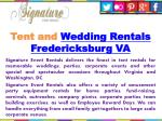 tent and wedding rentals fredericksburg va