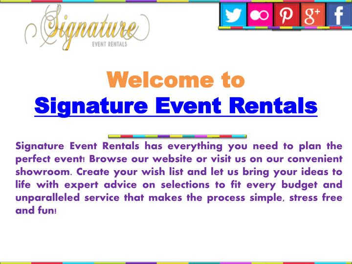 welcome to signature event rentals n.