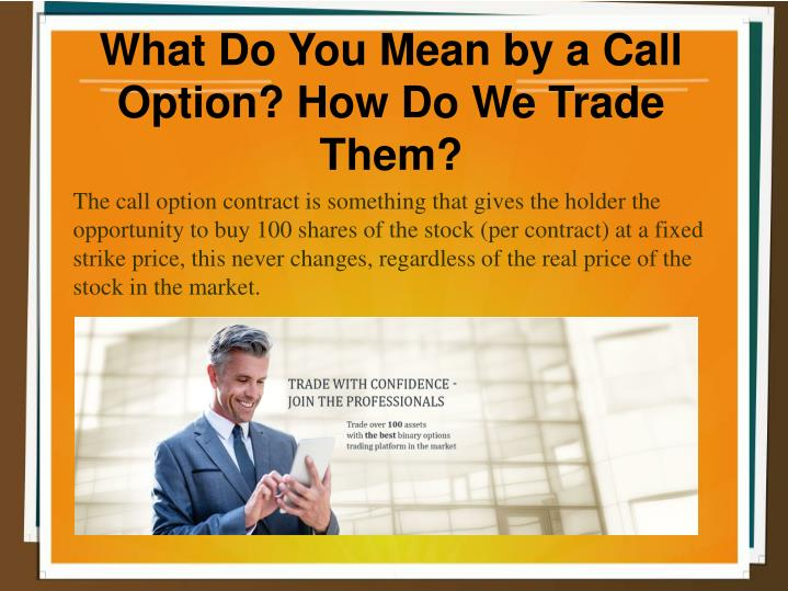 How do you trade options