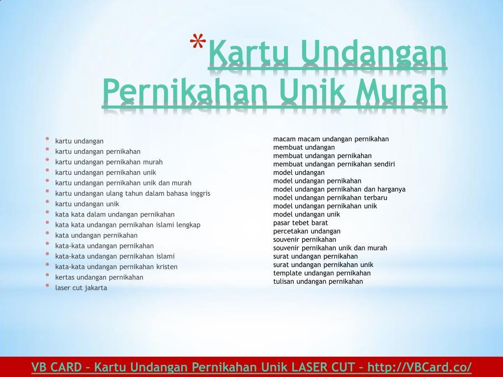 Ppt Kartu Undangan Pernikahan Unik Elegan Laser Cutting Jakarta Vb Card Powerpoint Presentation Id 7396910