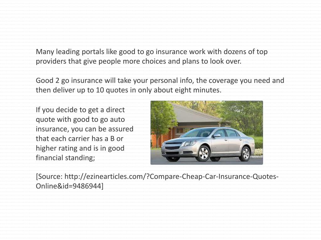 PPT - Compare Cheap Car Insurance Quotes Online PowerPoint ...