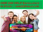 hsm 220 help excellence in study hsm220help com