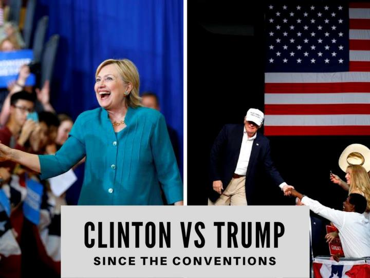 clinton versus trump subsequent to the conventions n.