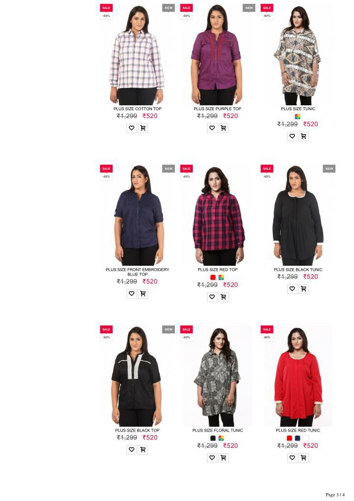 Plus size clothing india online