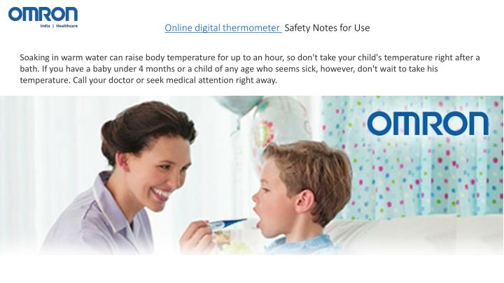 Online digital thermometer Safety Notes for Use