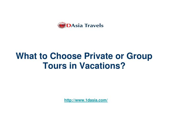 what to choose private or group tours in vacations n.