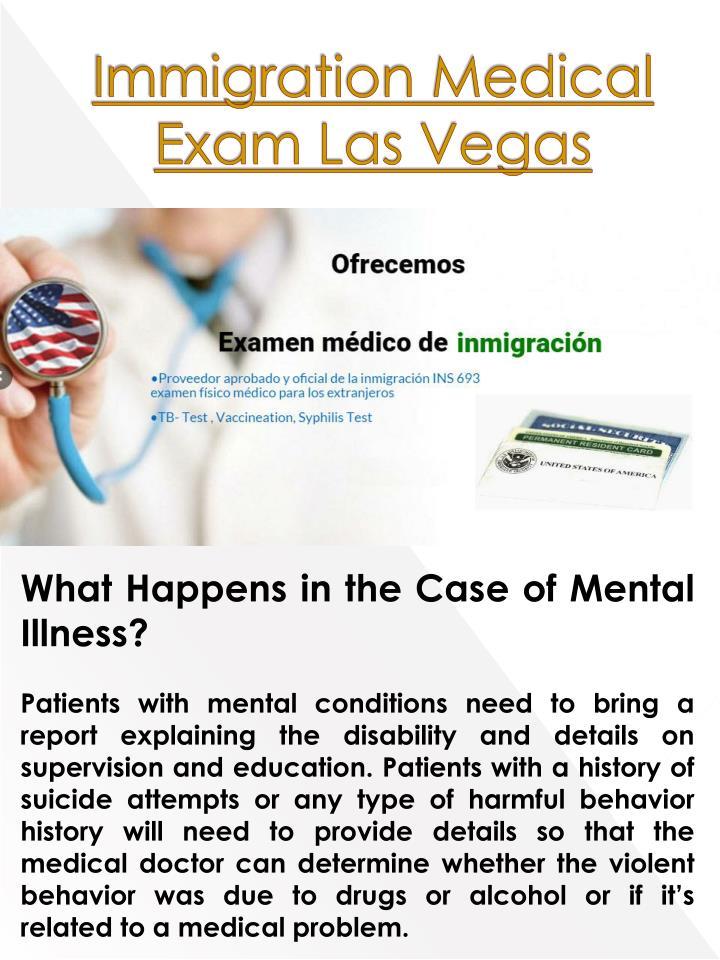 Immigration Medical Exam Las Vegas