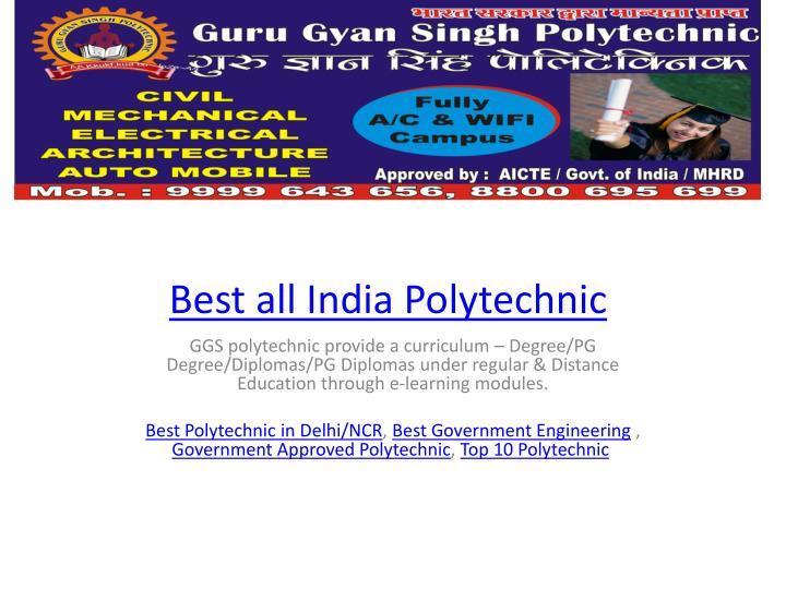 best all india polytechnic n.