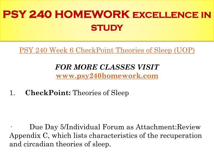 psy 240 appendix c the sleep matrix