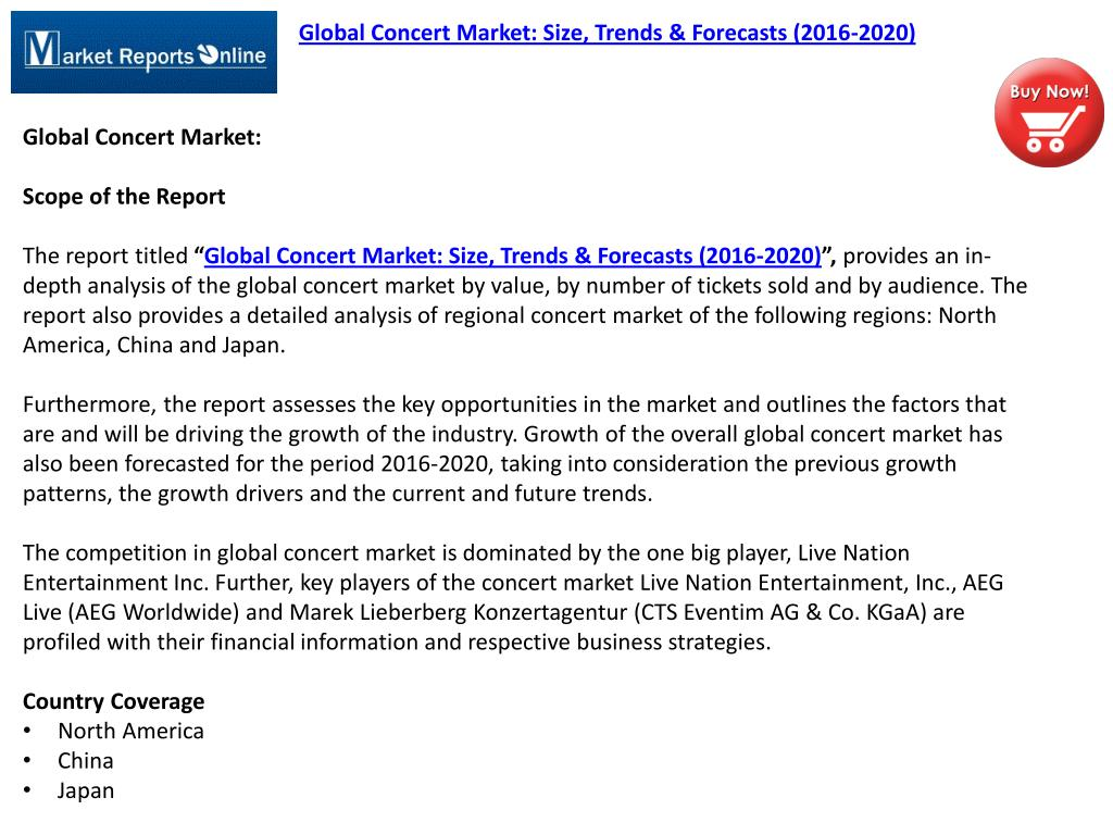 PPT - MRO: Global Concert Market Analysis 2016 PowerPoint