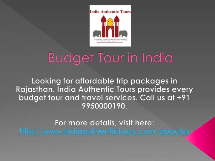 budget tour in india n.
