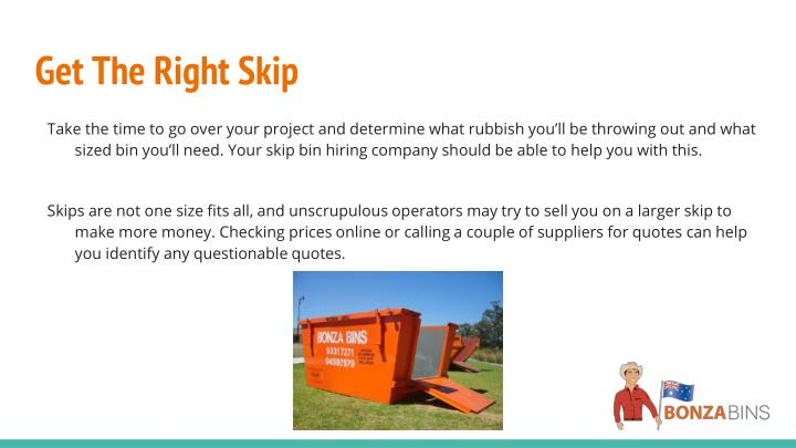 Get The Right Skip