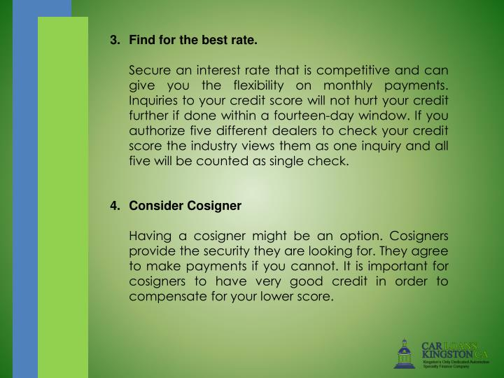 3. Find for the best rate.
