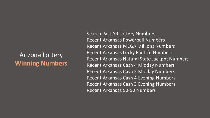 Search Past AR Lottery Numbers