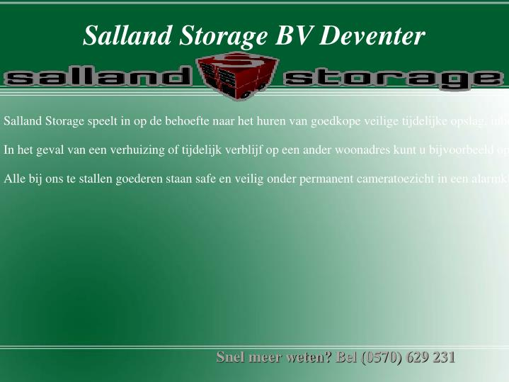salland storage bv deventer n.