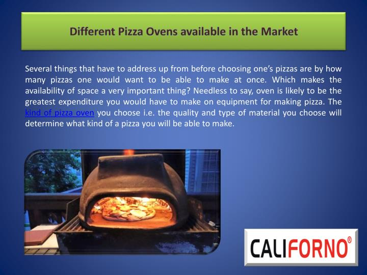 different pizza ovens available in the market n.