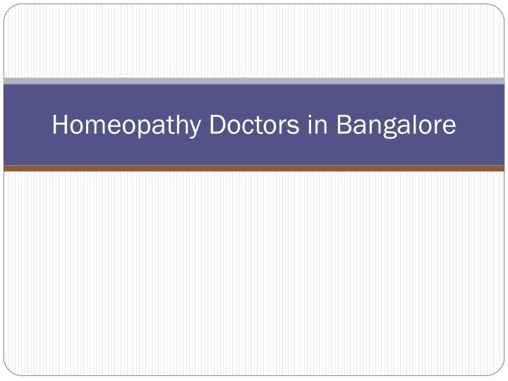 homeopathy doctors in bangalore n.
