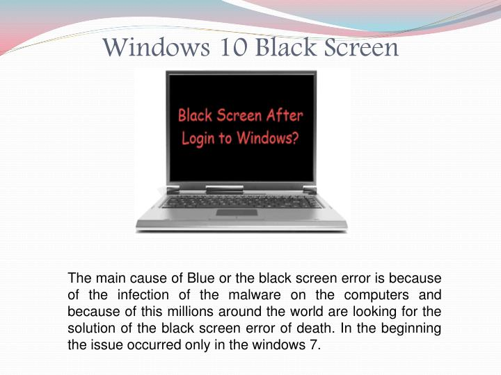 PPT - Fix Issues for Windows 10 Black Screen PowerPoint ...