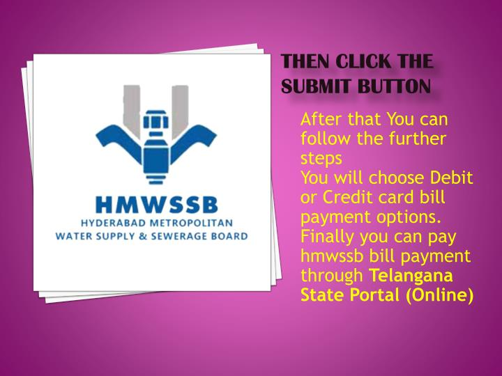 Then click the Submit button
