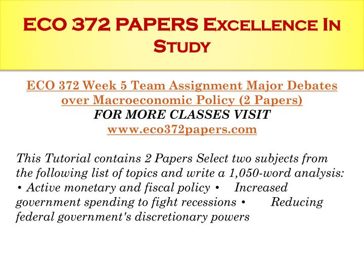 fiscal policy paper eco372