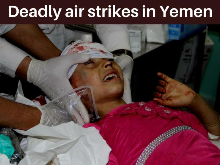 deadly air strikes in yemen n.