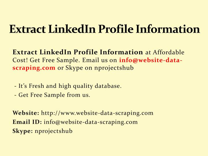 extract linkedin profile information n.