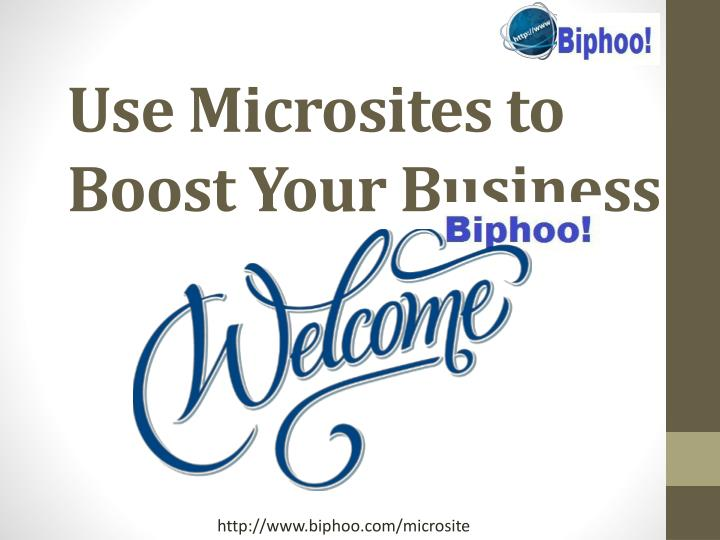 use microsites to boost your business n.
