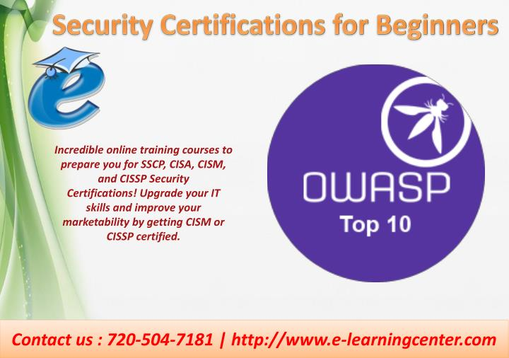 PPT - Security Certifications Online Training PowerPoint ...