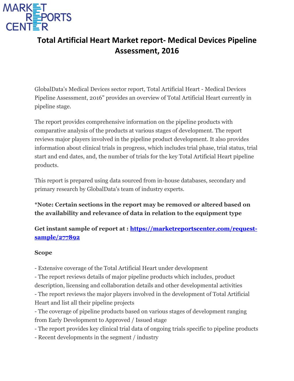 PPT - Global research report on Total Artificial Heart