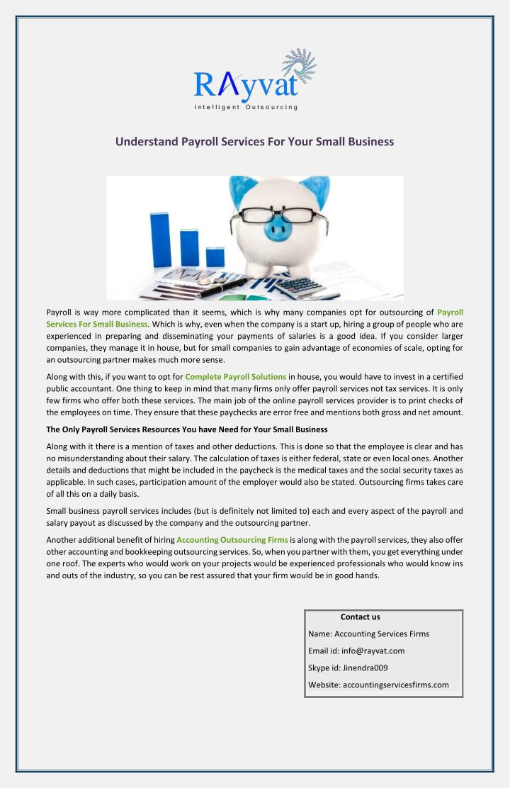 PPT - Understand Payroll Services For Your Small Business ...