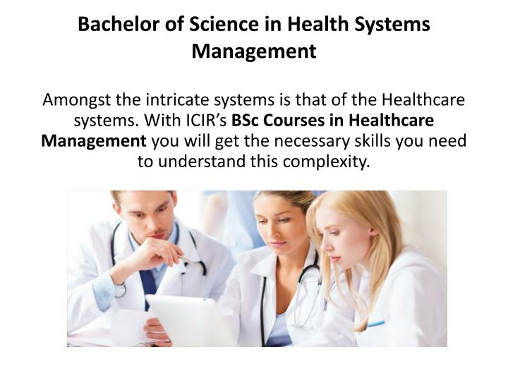 bachelor of science in health systems management n.