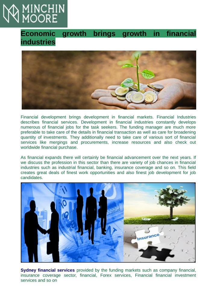 Economic  growth  brings  growth  in  financial