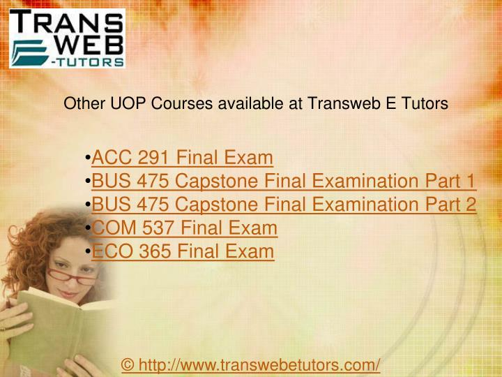 week 5 bus 475 final exam