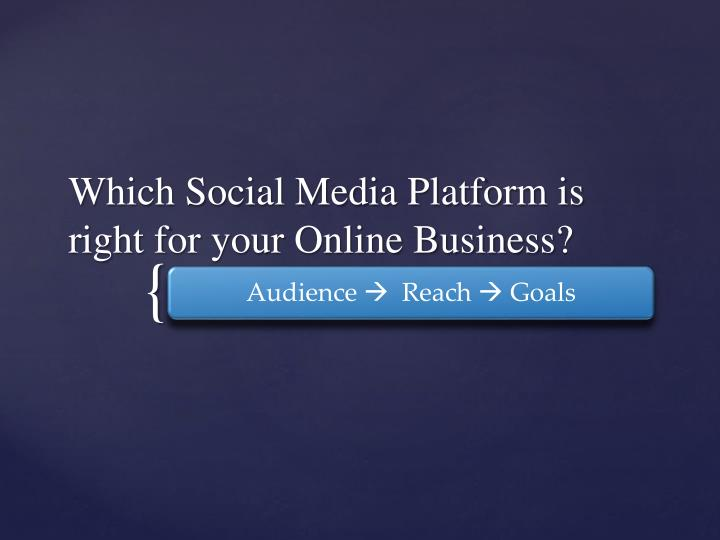 which social media platform is right for your online business