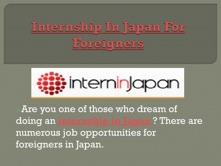 internship in japan for foreigners n.