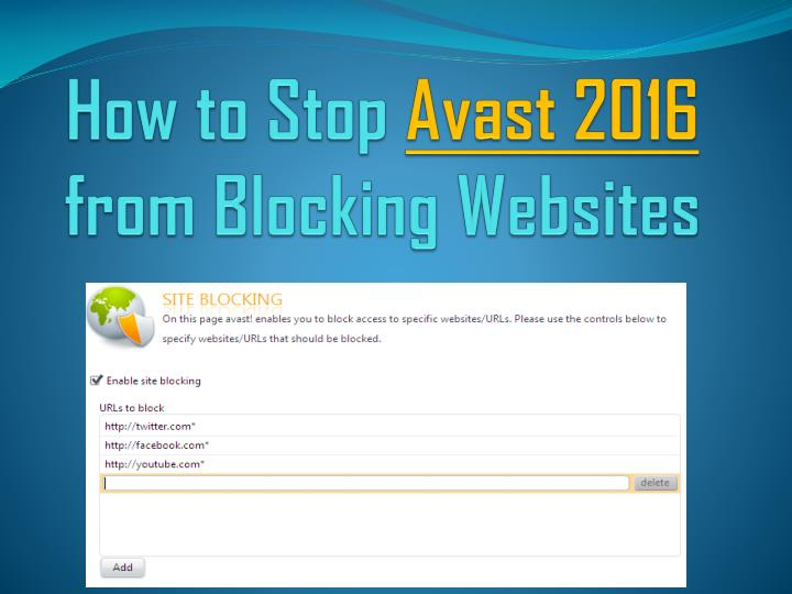 avast stopped working 2016