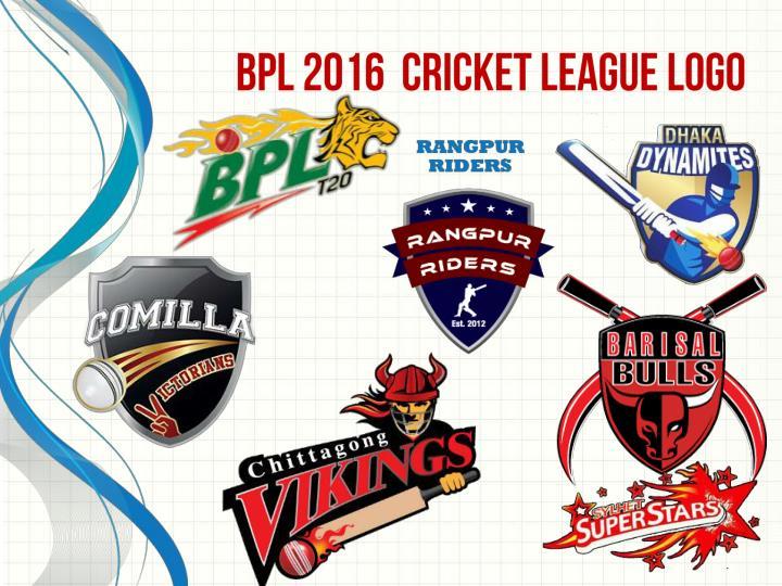 BPL 2016  Cricket League Logo