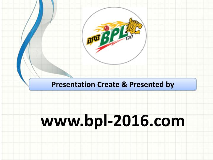 Presentation Create & Presented by