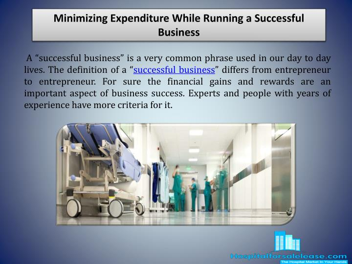 minimizing expenditure while running a successful business n.