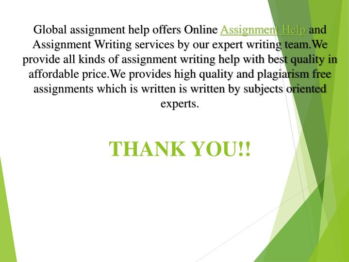 Global assignment help offers Online