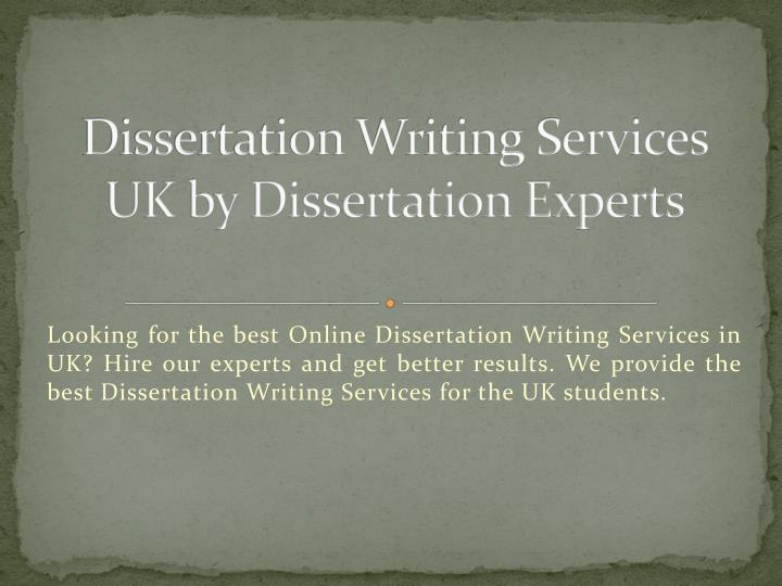 Dissertation services in uk 2007