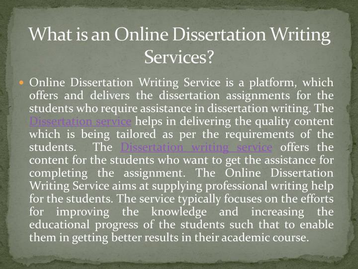 Dissertation writing experts