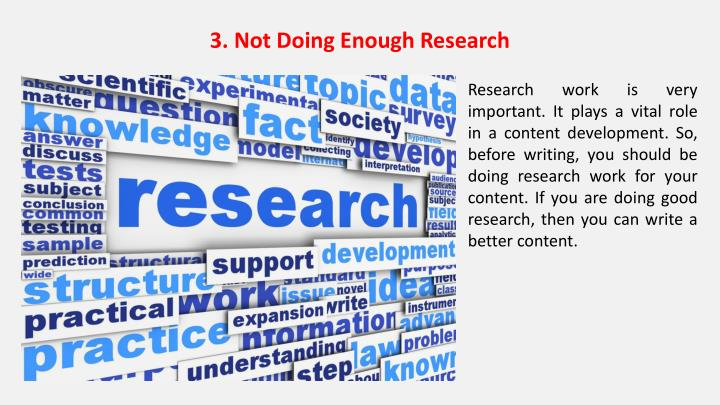 3. Not Doing Enough Research